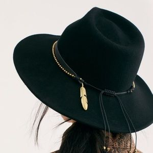 Free People Black Chocorua Felt Hat By Nikki Beach